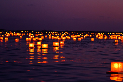 calm, candles, contrast, darkness, dawn, dusk, lake, light, memory, ocean, orange, peace, pond, purple, river, serenity, sky, water, yellow