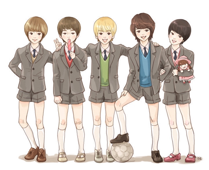 cartoon, cute, jinki, jonghyun, key