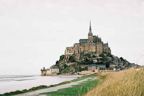 castle, europe, france, mont saint michel, scenery