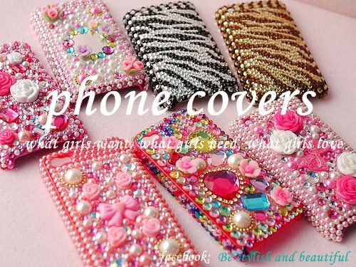 cellphone, cover, crystals, girl, iphone