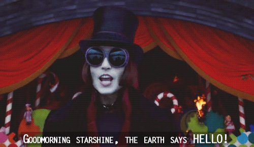charlie and the chocolate factory, chocolate, chocolate factory, film, goodmorning, hello, starshine, text, willy wonka