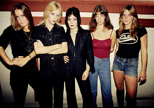 cherie currie, jackie fox, joan jett, lita ford, sandy west, the runaways