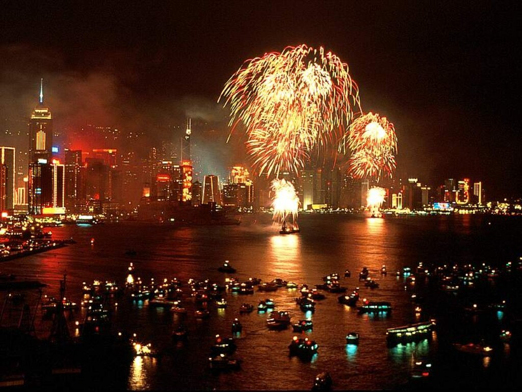 china, city, firework, hanabi, light