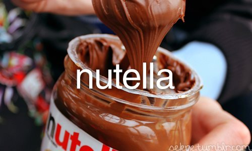 chocolate, food, gabica, nutella, photography, text, yummy