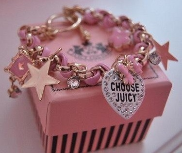 choose juicy, fashion, gift, jewelry, pink, star, stars
