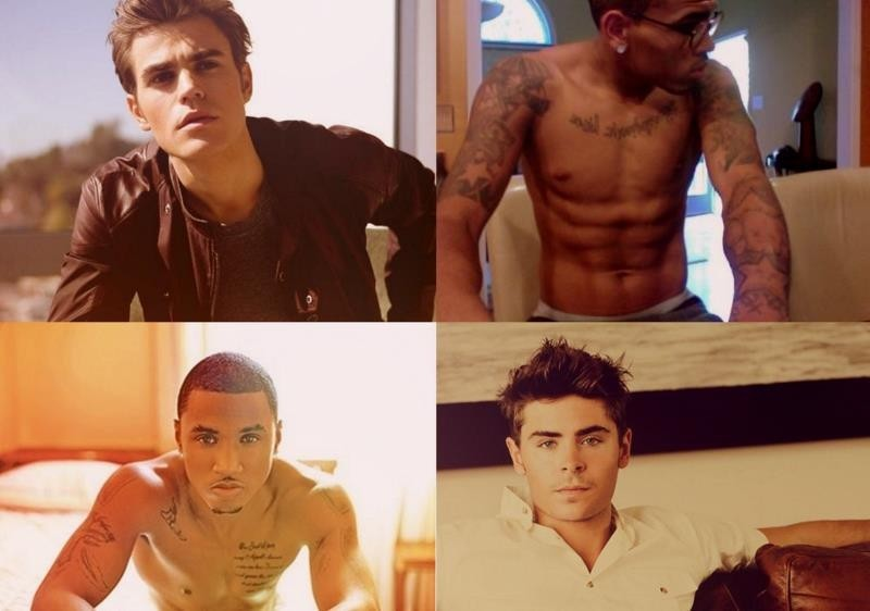 chris brown, hot, paul wesley, trey songz, zac efron