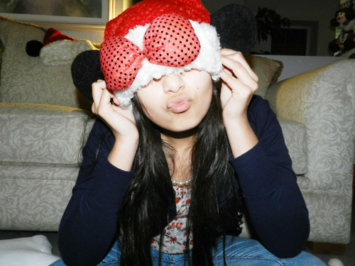 christmas, fernanda v, long hair, minnie mouse, photography