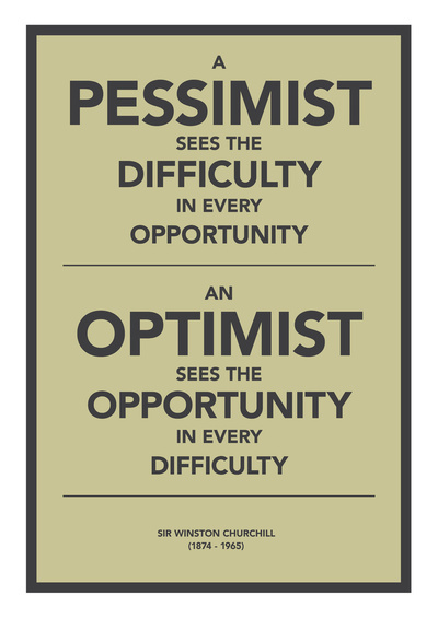 churchill, opportunity, optimist, pessimist, text