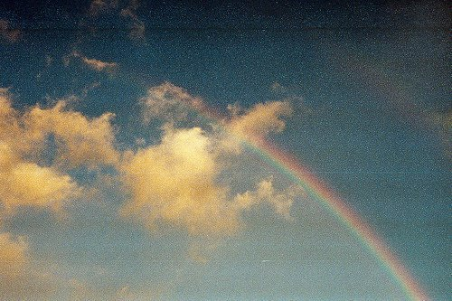 cloud, nice, rainbow, sky