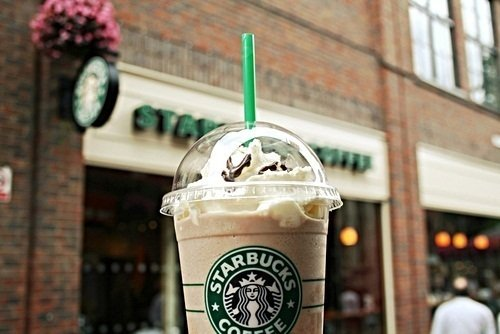 coffee, drink, frappuccino, starbucks, yum