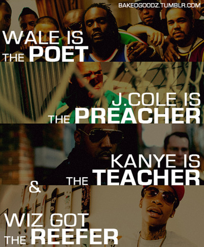 cole world, kanye west, rap game, wale, wheres kid cudi