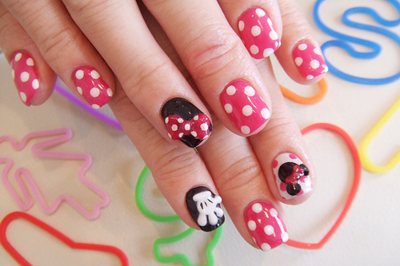 cute, disney, fashion nails, inspiring, mickey