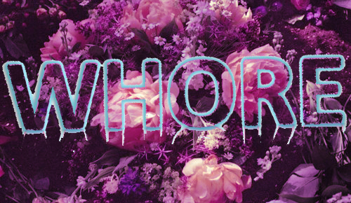 cute, fashion, flowers, kawaii, pink, purple, roses, text, whore