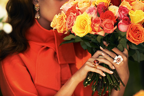 cute, fashion, flowers, love, rings