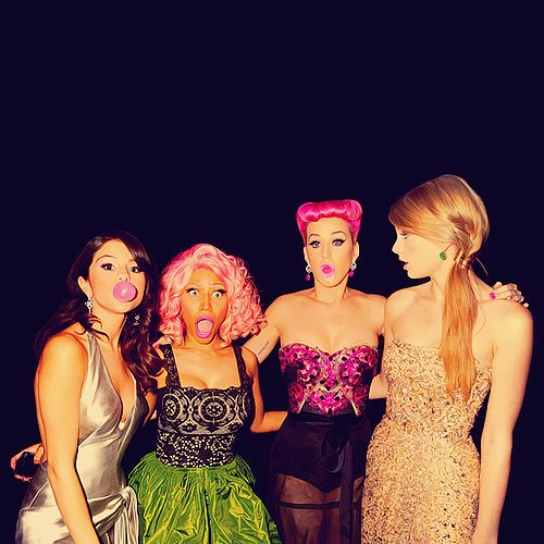 cute, fashion, funny, katy perry, nicki minaj, photography, selena gomez, taylor swift