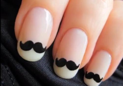 cute, fashion, girly, mustache, mustage, nailart, nailpolish, nails, perfect