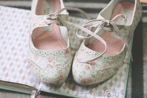 cute, floral, girly, kawaii, shoes