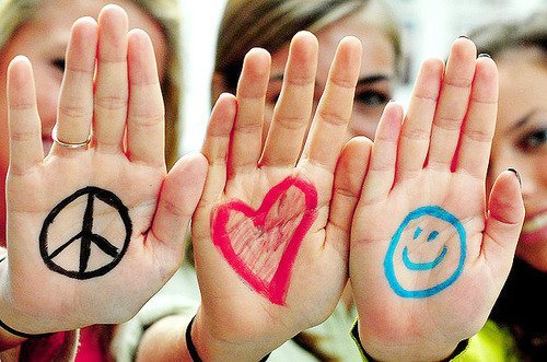 cute, free, girls, happiness, heart, love, peace