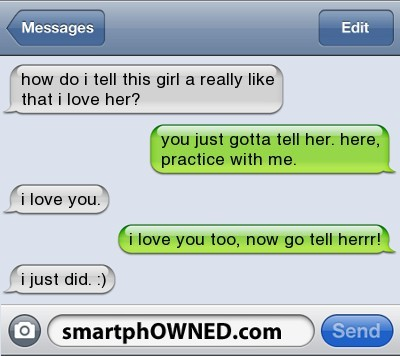 cute, funny, love, smartphowned, text