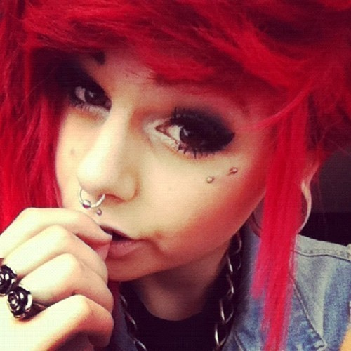 cute, girl, plugs, red, red hair