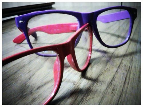 cute, glasses, pink, purple