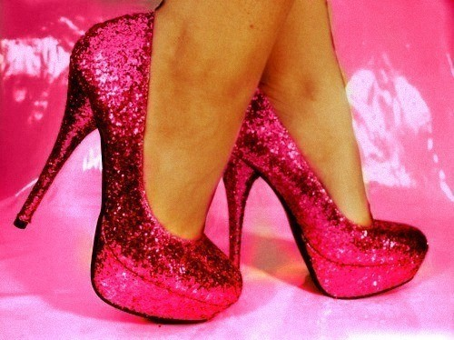 cute, heels, pink, shoes, sparkly