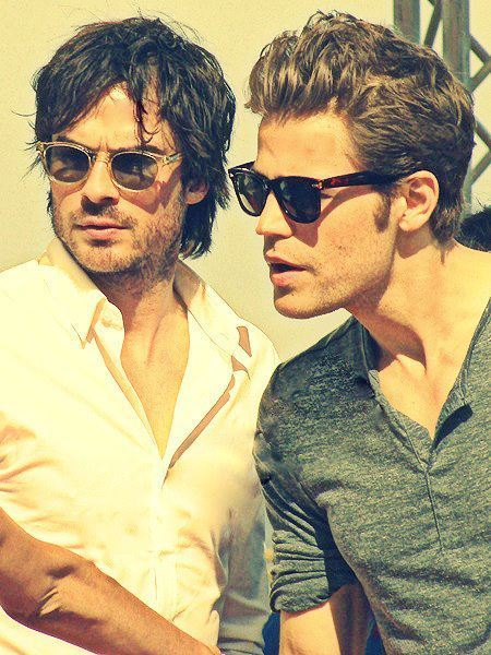 damon, damon salvatore, glasses, ian somerhalder, ian somerhandler, paul wesley, perfection, vintage, stefan, the vampire diaries, stephan, vampires, vampire diaries, sexy, tvd