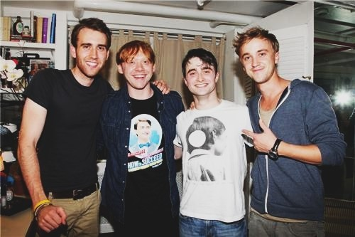 daniel radcliffe, draco malfoy, harry potter and neville longbottom