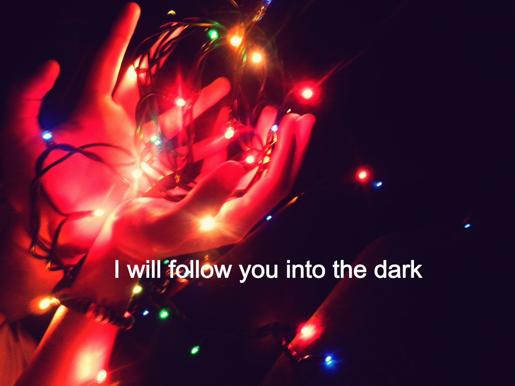 dark, follow, girl, heand, light