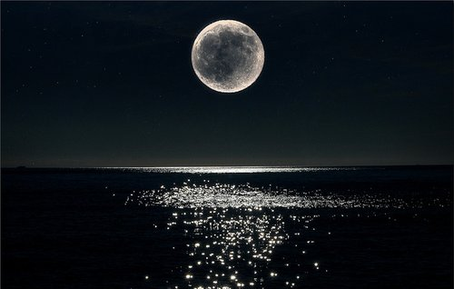 darkness, moon, night, photography, reflection