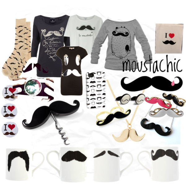 design, fashion, moustachic, my polyvore set, my set