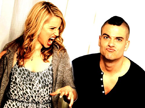 dianna agron, funny, glee, mark selling, puck