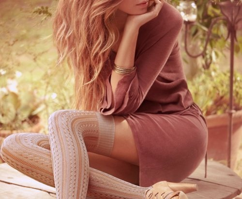 dress, fashion, garden, girl, hair, high heel, overknees, pastels, photography, pretty, sensitive, sexy, stockings, woman
