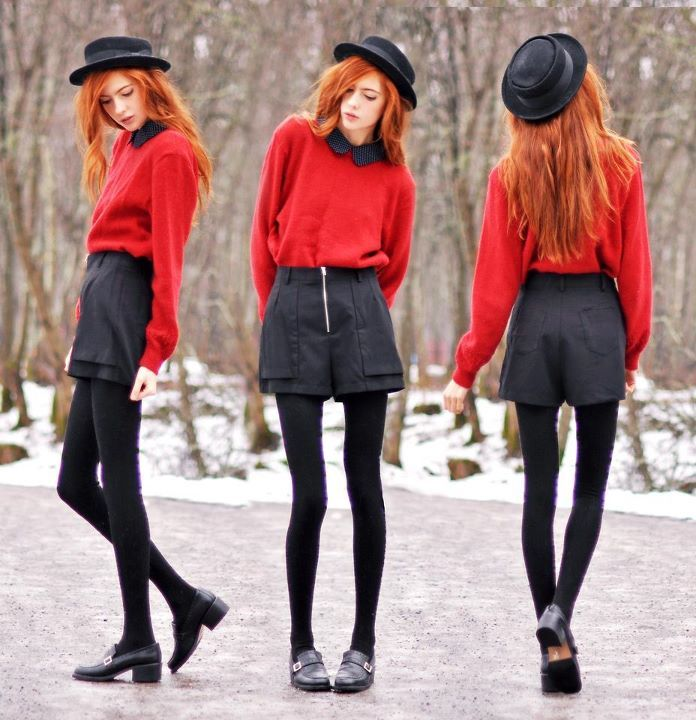 ebba zingmark, fashion, girl, hat, red