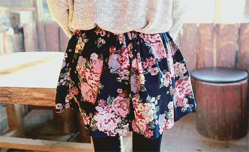 fashion, floral, skirt
