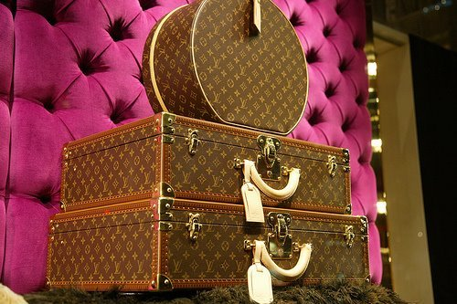 fashion, girl, heels, louis vuitton, luggage, pink, prada, pumps, shoes, style