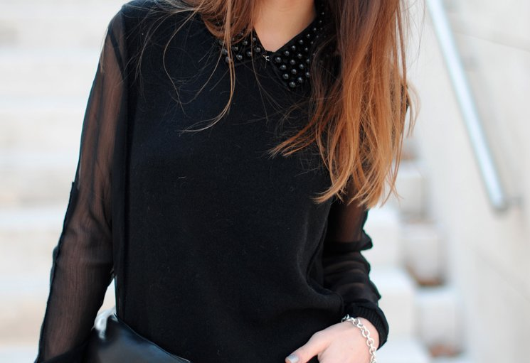 fashion, hair, peter pan collar