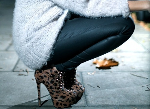 fashion, leather, leather pants, leather skinnies, leopard print