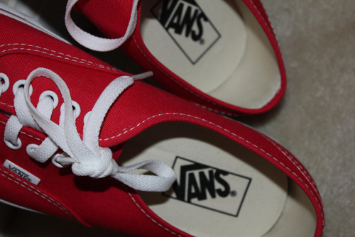 fashion, red, shoes, vans