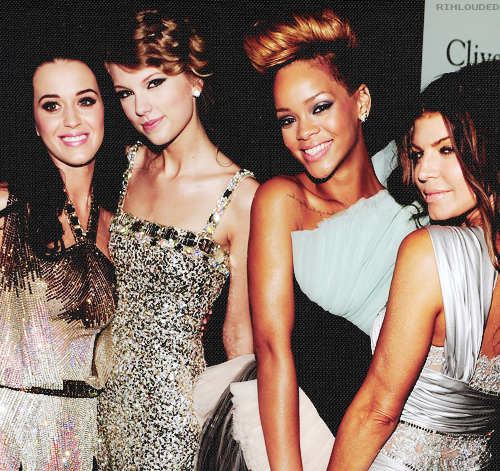 fergie, katy perry, rihanna, taylor swift