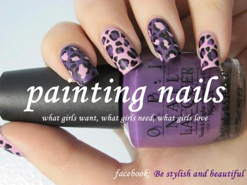 girl, hand, leopard, nail art, nail laquier, nails, pink, text, violet