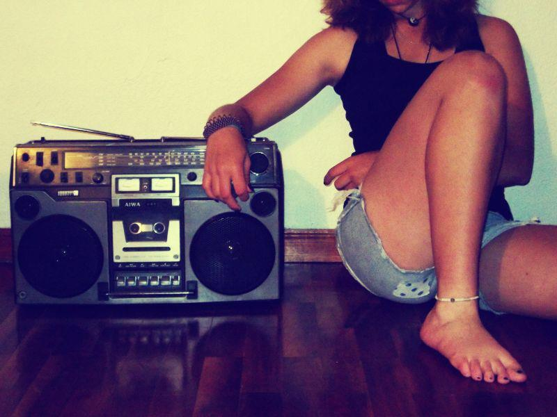 girl, music, nice, radio, stereo