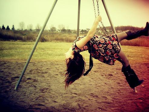 Image result for child on swing