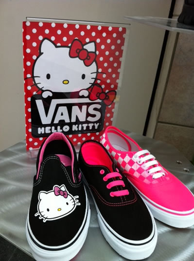 hello kitty, shoes, vans