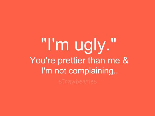 idc, mine, pretty, quote, stop, strawbearies, true, ugly