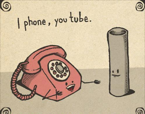 iphone, phone, tube, youtube