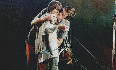 krist novoselic, kurt cobain, nirvana, noite do kurt, so awsome, sweet jesus