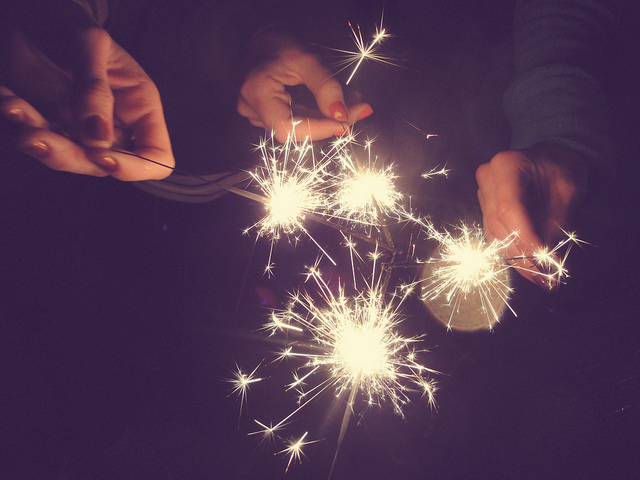 2012, hands, lights, nails, new year