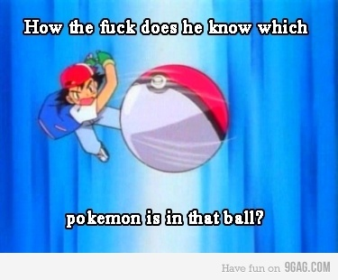 9gag, ball, lol, pokemon, text