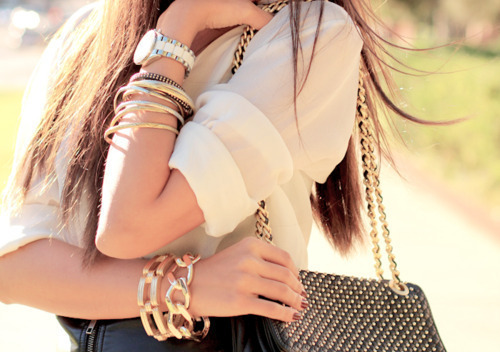 accessories, accessory, bag, bracelets, chain, chic, elegant, fashion, golden, style, stylish, watch
